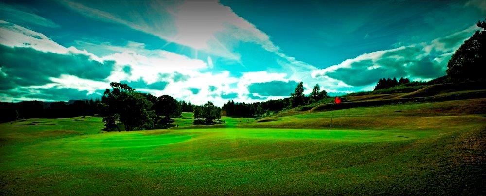 Fairway auf dem Crail Balcomie Golfkurs in der Nähe von St.Andrews, Schottland