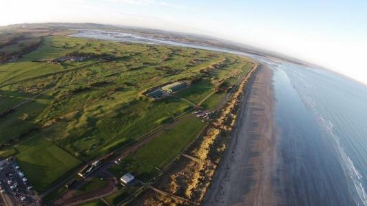 Luftansicht vom Old Course Golfplatz in St Andrews-Schottland
