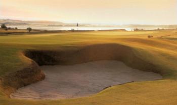 Sonnenuntergang auf dem Craigielaw Golf Course