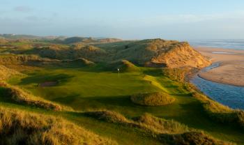 Drittes Loch auf den Trump International Golf Links Schottland