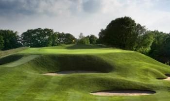 Erhöhtes Grün auf dem King's Course in Gleneagles