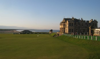 18. Grün auf dem berühmten Old Course in St Andrews